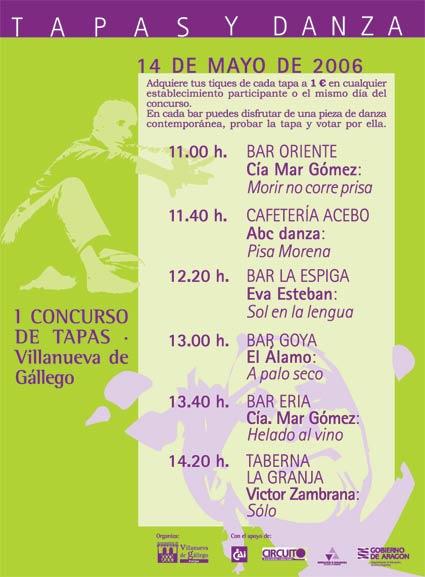 TAPAS Y DANZA.-Villanueva de Gallego (Zaragoza)