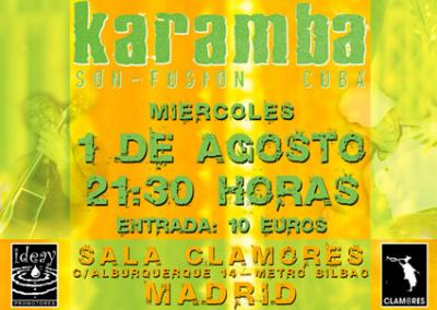 KARAMBA EN CONCIERTO.-Madrid